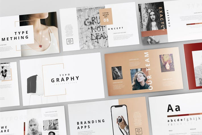 TYPOGRAPHY -Многоцелевой Шаблон Powerpoint V102