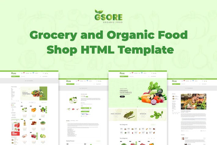 Thumbnail for Gsore - Grocery and Organic Food Shop HTML Templat