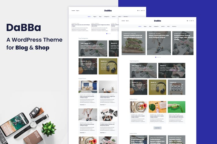Thumbnail for Dabba – A WordPress Theme For Blog & Shop