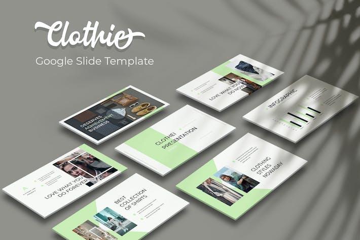 Thumbnail for Clothie - Google Slide Template