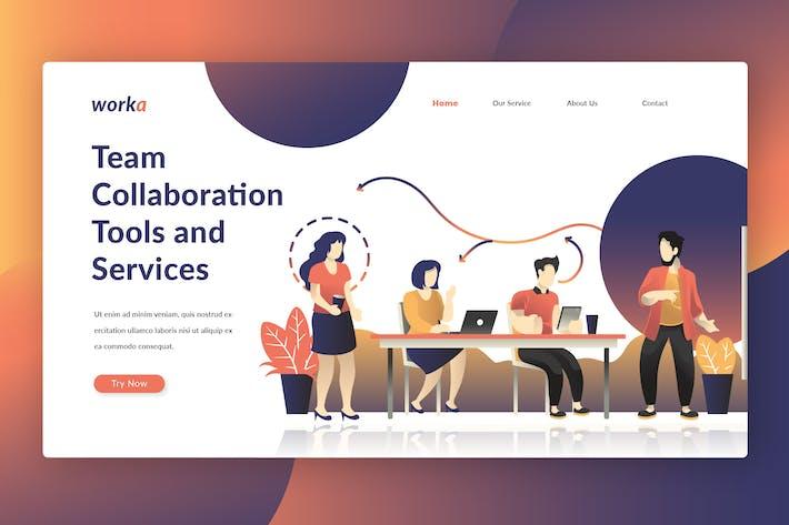 Thumbnail for Teamwork - Landing Page