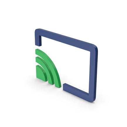 Symbol Connect To TV Green