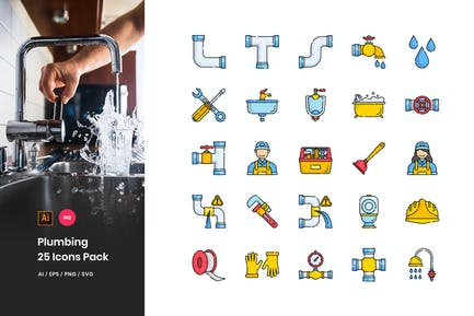 Plumbing Icons Pack