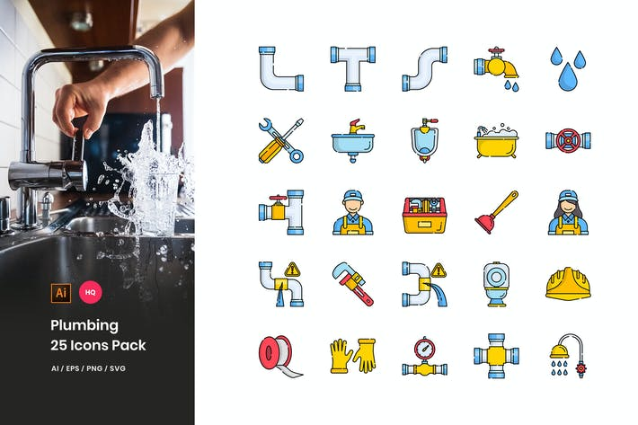 Thumbnail for Plumbing Icons Pack