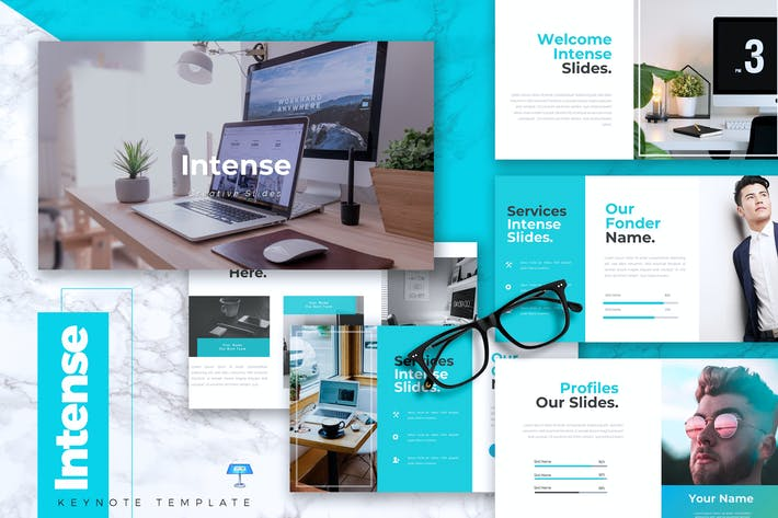 Thumbnail for INTENSE - Business Keynote Template