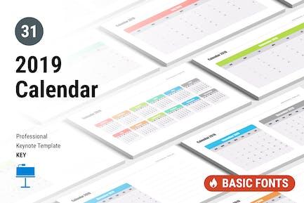 Calendar 2019 for Keynote