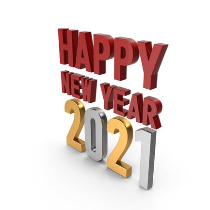 Happy New Year 2020 Symbol Red Gold and Silver