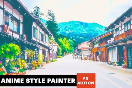 Anime Style Painter Photoshop Action