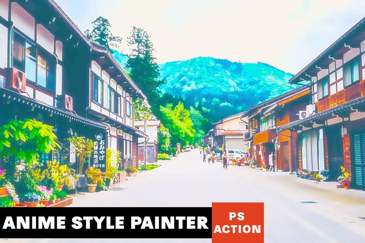 Thumbnail for Anime Style Painter Photoshop Action