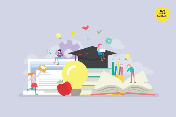 Thumbnail for Online Distance Learning Education Vector Concept