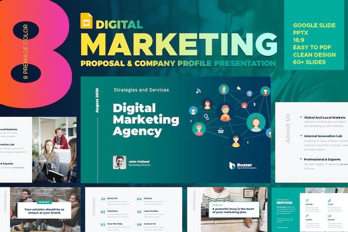 Thumbnail for Digital Marketing Agency Google Slide