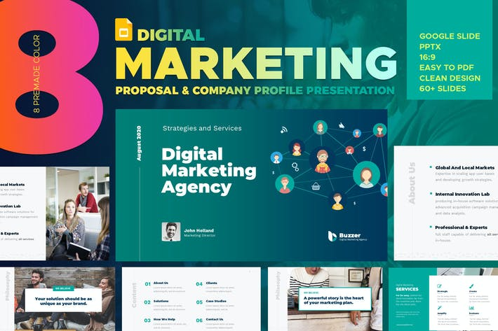 Thumbnail for Агентство цифрового маркетинга Google слайд