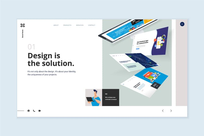 Thumbnail for Website Template Design