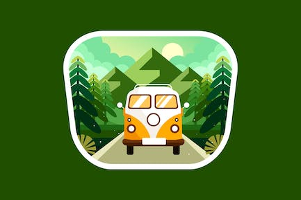 Explore the mountain forest by car
