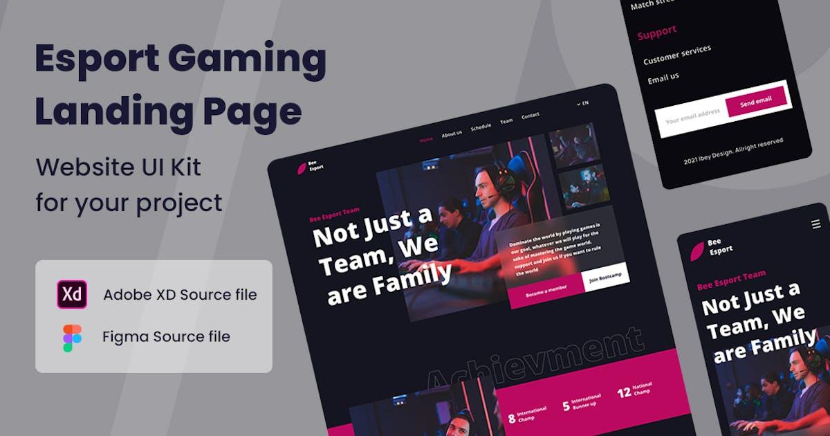Download Esport Gaming - Website UI Kit by ibeydesign