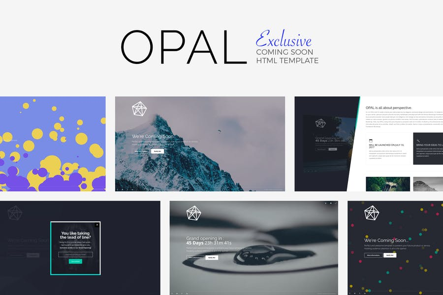 OPAL - Exclusive Coming Soon Template