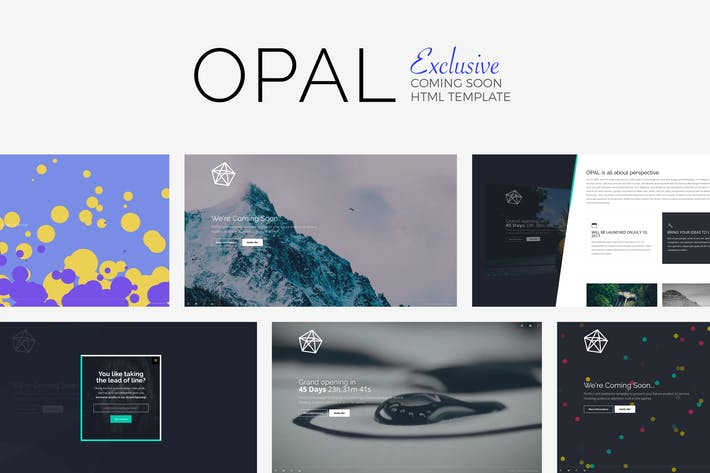 Download 17 youtube website templates envato elements thumbnail for opal exclusive coming soon template maxwellsz