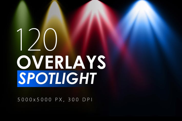 Thumbnail for 120 Colorful Spotlight Overlays