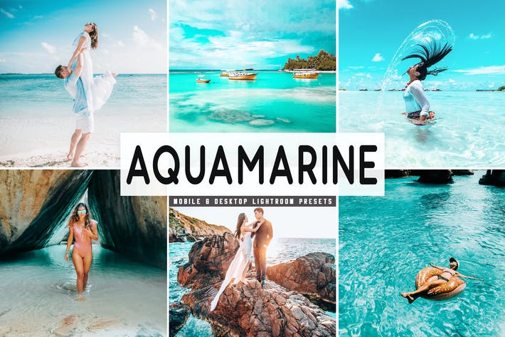 Thumbnail for Aquamarine Mobile & Desktop Lightroom Presets