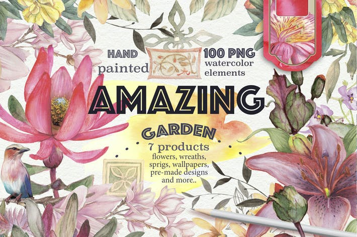 Thumbnail for 'Amazing garden' 100 elements