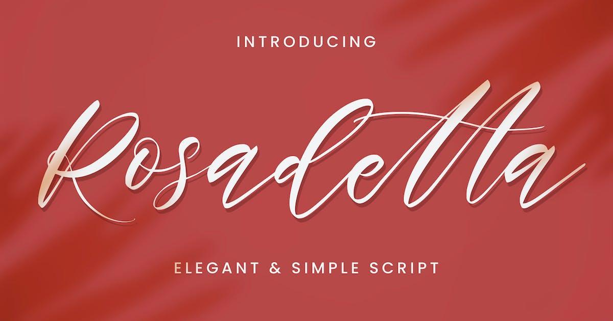 Download Rosadetta - Elegant Script by Alterzone