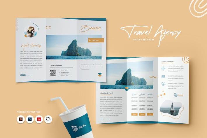 Thumbnail for Travel & Adventure Trifold Brochure