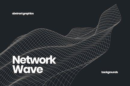 Fondo de onda de red suave