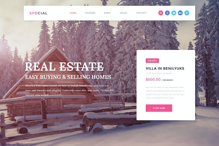 Real Estate Landing Page PSD Template By DesignsVilla On Envato Elements - Real estate landing page template free