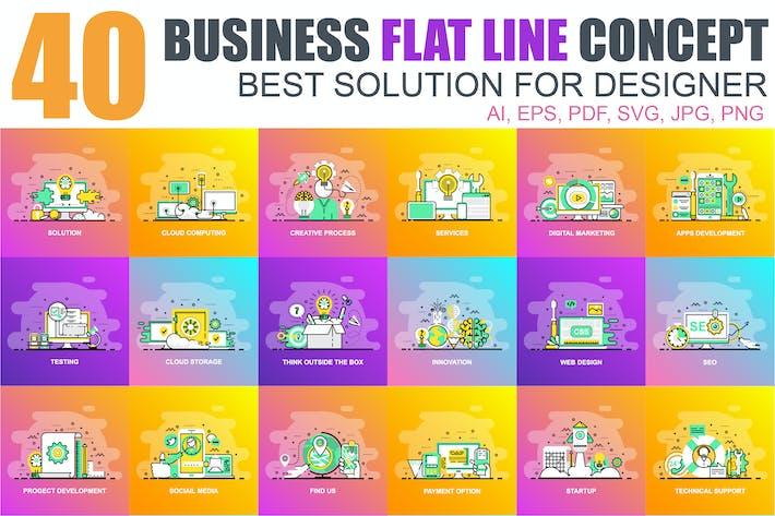 Thumbnail for Flat Line Color Concepts