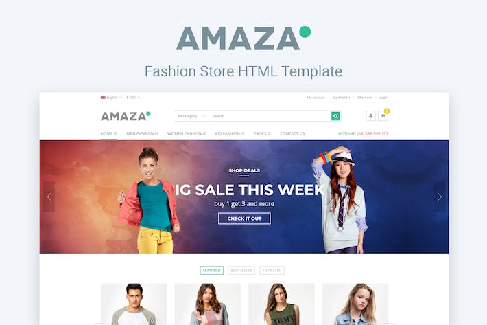 Thumbnail for Amaza - Fashion Store HTML Template