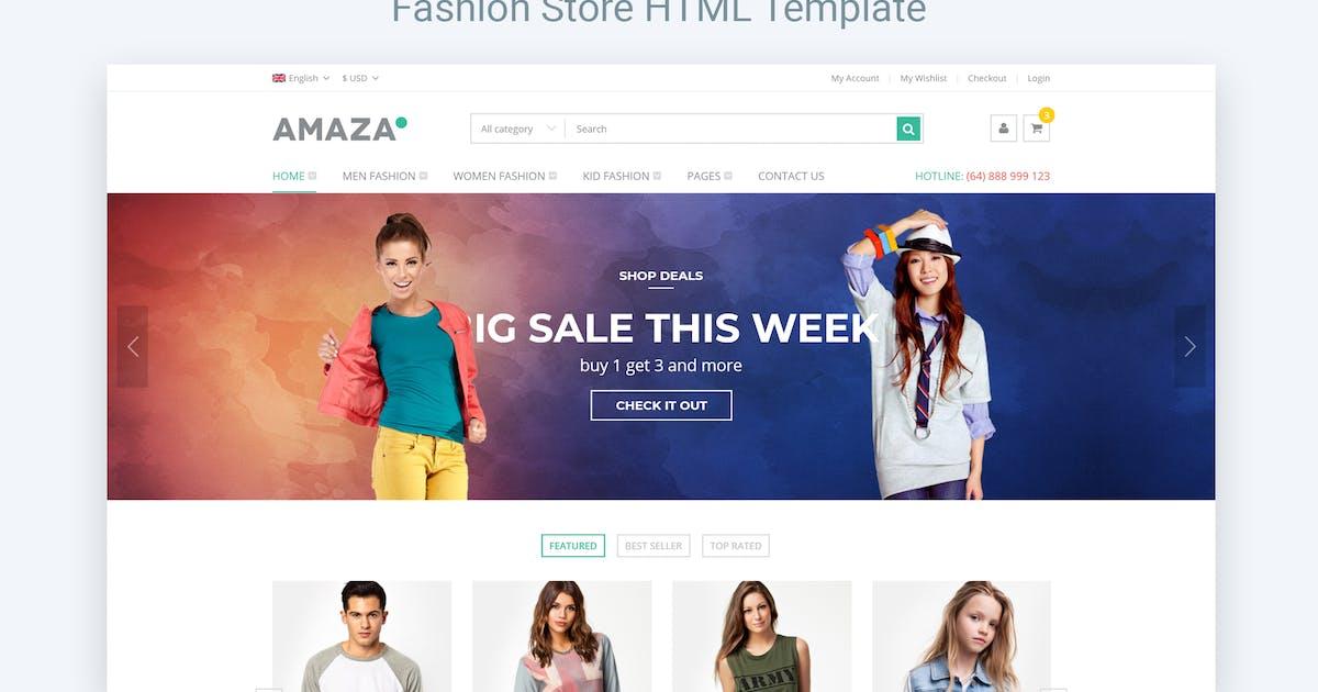Download Amaza - Fashion Store HTML Template by NinjaTeam