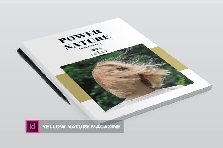 Thumbnail for Yellow Nature | Magazine Template