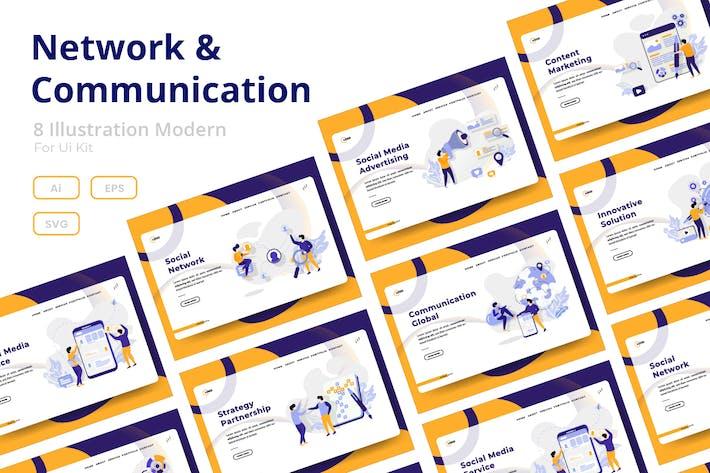 Thumbnail for Jeux réseau et communication Illustration