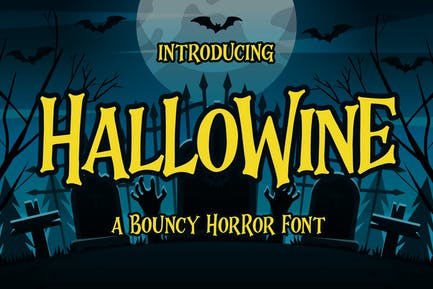 Hallowine - a Bouncy Horor Font