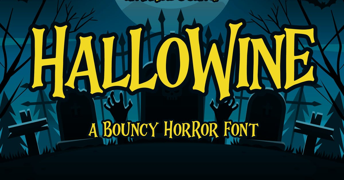 Download Hallowine - a Bouncy Horor Font by Blankids