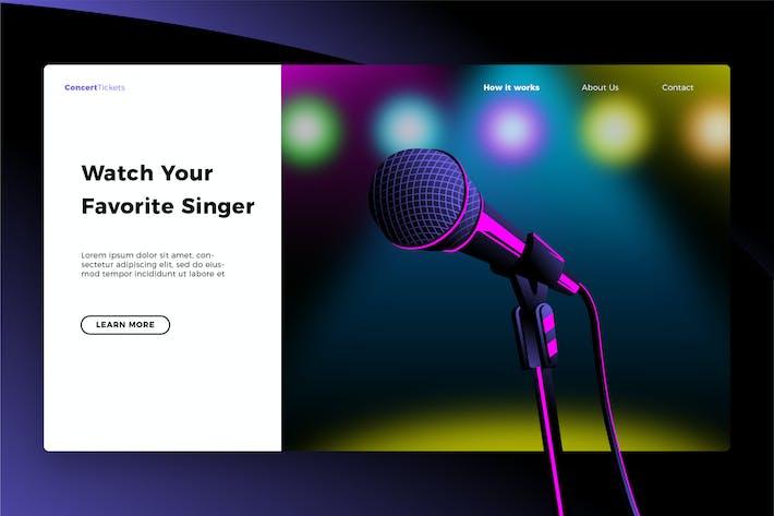 Thumbnail for Favorite Singer - Banner & Landing Page
