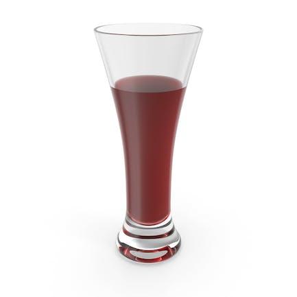 Glas mit rotem Wasser