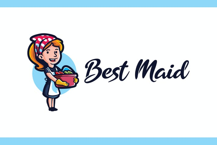 Cover Image For Best Maid - Maid Service and Housekeeping Logo