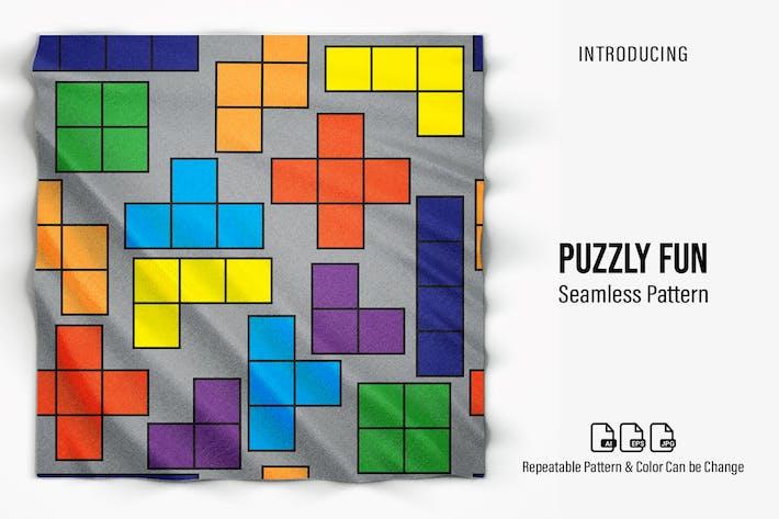 Puzzly Fun Seamless Pattern