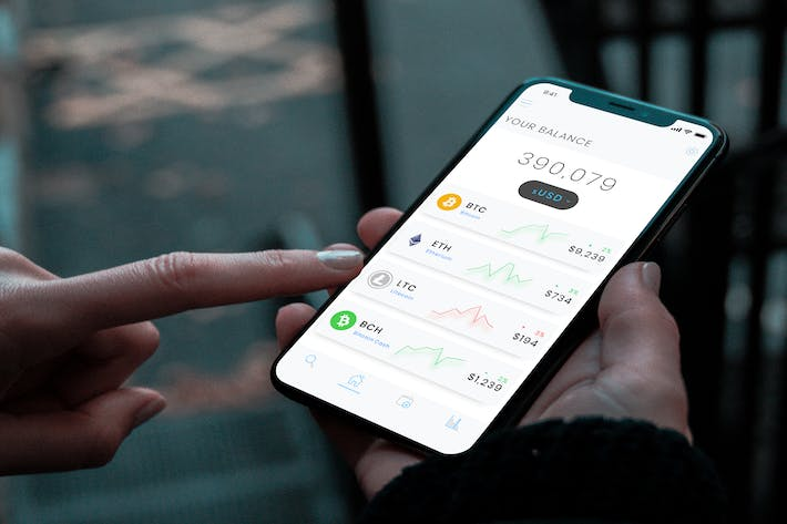 Cover Image For Crypto Dashboard Wallet Mobile Ui - B