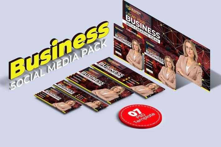 Thumbnail for Business social media pack