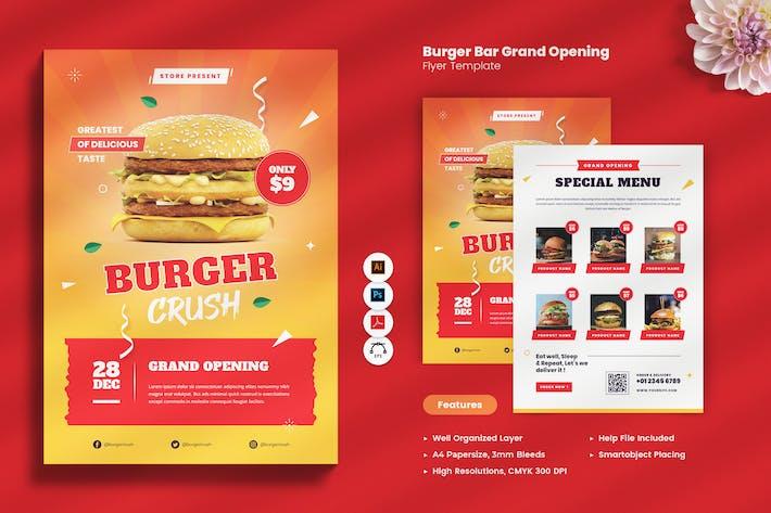 Burger Bar Grand Opening Flyer