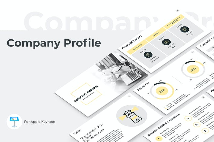 Thumbnail for Company Profile Keynote Presentation Template