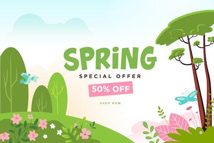 Frühlings-Sale-Banner