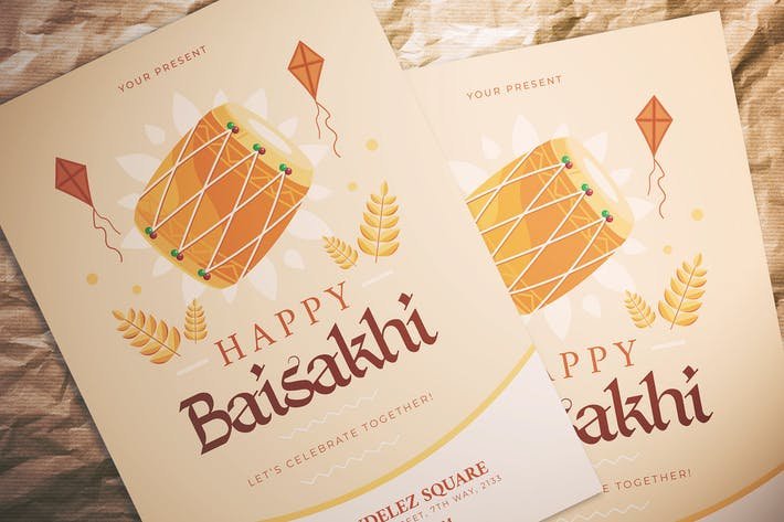 Happy Baisakhi Flyer