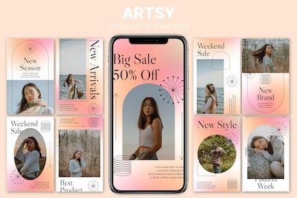 Artsy - Instagram Story Pack