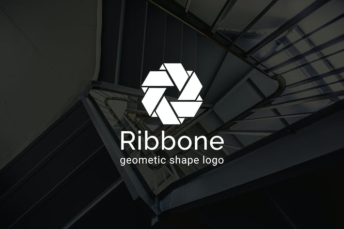Thumbnail for Ribbone : Geometric Shape Logo