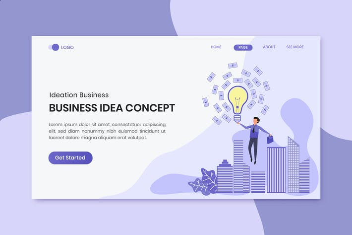 Thumbnail for Ideas Concept Business Marketing Landing Page