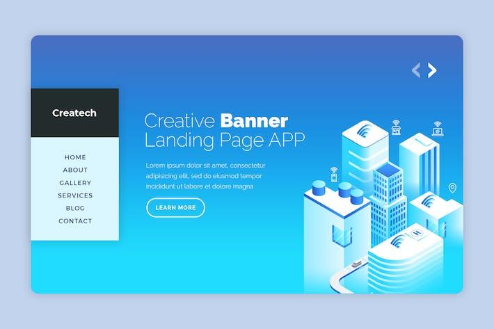 Thumbnail for Createch - Hero Banner Template