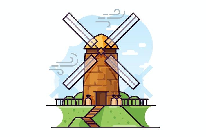 Thumbnail for Windmill illustration